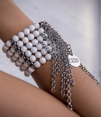WATERFALL  WHITE (Brazalete)