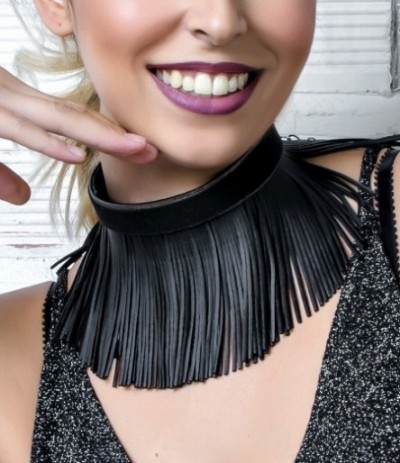 SHARON-BLACK (Choker)