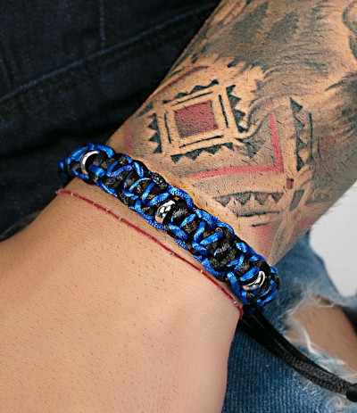 DYLAN BLUE-BLACK (PULSERA)