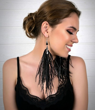 BRIDGET BLACK (EARRINGS)